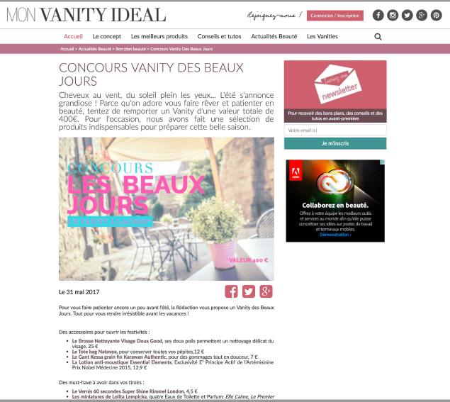 Zen&Slim est cité sur le site MON VANITY IDEAL