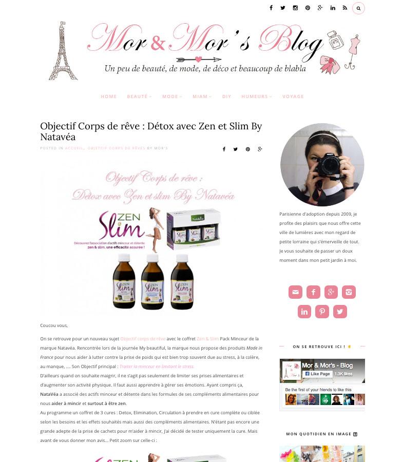 Le blog MOR & MOR'S